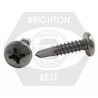 "#10-16x1 1/2"",(FT) PAN HEAD PHIL,#3 POINT BSD SELF DRILLING SCREWS HARDENED STAINLESS STEEL 410"