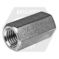 """1/4""""-20xW3/8""""xL7/8"""" HEX COUPLING NUTS 316 STAINLESS STEEL"""