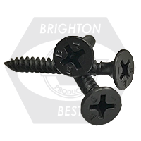 "#10-12x4"" BUGLE HEAD PHIL FINE PROFERRED DRYWALL SCREW BLACK PHOSPHATED TAIWAN"