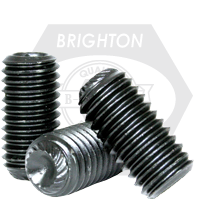 "#10-24x3/4"" UNC KNURLED CUP POINT SOCKET SET SCREWS KNURLED CUP POINT COARSE ALLOY THERMAL BLACK OXIDE"