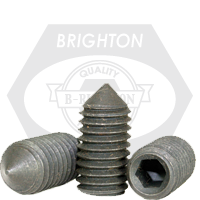 "#10-24x3/16"" STANDARD SOCKET SET SCREWS CONE POINT COARSE ALLOY THERMAL BLACK OXIDE"