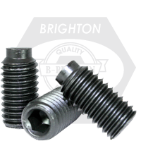 "#10-24x1/4"" SOCKET SET SCREWS 1/2 DOG POINT COARSE ALLOY THERMAL BLACK OXIDE"