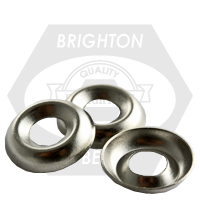 "1/4"" COUNTERSUNK FINISHING WASHER NICKEL PLATED"