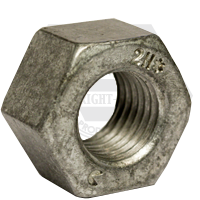 "1 1/8""-8 HEAVY HOT DIP GALVANIZED HEX NUTS A194 / SA 194 2H HEAVY 8 PITCH HDG"