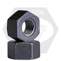 """2""""-8 A194 / SA 194 2H HEAVY HEX NUTS 8 PITCH MED. CARBON PLAIN"""
