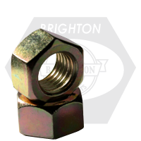 "1/2""-20 HEX NUTS FINE LOW CARBON ZINC-YELLOW CR+6"