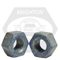 "1/2""-13 A563 HEAVY HEX NUT GRADE DH COARSE MED. CARBON HDG/WAX/BLUE DYE"