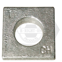 """1 1/2"""" SQUARE BEVELED MALLEABLE IRON WASHER HDG"""