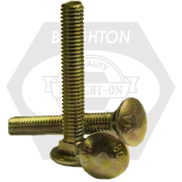 "3/8""-16x4"" CARRIAGE BOLT A307 GRADE A ZINC YELLOW CR+6"
