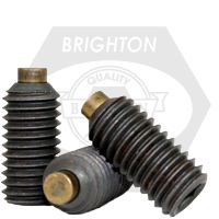 "1/2""-13x3/8"" BRASS-TIP SOCKET SET SCREWS COARSE ALLOY"