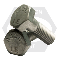 """1 1/4""""-7x2 1/2"""" A325 TYPE 1 HEAVY HEX STRUCTURAL BOLT HDG USA"""