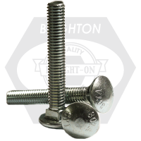 "1/2""-13x11"",6"" THD UNDER-SIZED CARRIAGE BOLTS A307 GRADE A ZINC CR+3"