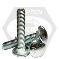 "5/8""-11x7"",6"" THD UNDER-SIZED CARRIAGE BOLTS GRADE 5 COARSE ZINC CR+3"