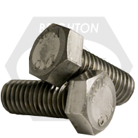 "1 1/2""-6x12"",6"" THD HEX BOLTS A307 GRADE A COARSE LOW CARBON PLAIN"