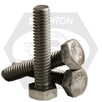"1""-8x5"",(FT) HEX TAP BOLT A307 GRADE A COARSE LOW CARBON PLAIN"