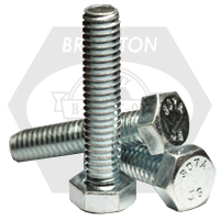 "1/2""-13x1"",(FT) HEX TAP BOLT A307 GRADE A COARSE LOW CARBON ZINC CR+3"