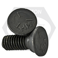 "1/2""-13x1 1/2"" GRADE 5 PLOW BOLTS NO.3 HEAD, FULL THREAD, PLAIN"