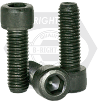 "#0-80x1"" SOCKET HEAD CAP SCREWS FINE ALLOY THERMAL BLACK OXIDE"