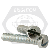 "1/4""-20x1/2"",(FT) MACHINE SCREW FILLISTER HEAD SLOTTED COARSE ZINC CR+3"