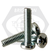 "3/8""-16x2"",(FT) MACHINE SCREW PAN HEAD PHILLIPS ZINC CR+3"