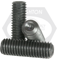 """#1-64x1/2"""" SOCKET SET SCREWS CUP POINT COARSE ALLOY THERMAL BLACK OXIDE"""