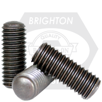 "#10-24x7/16"" SOCKET SET SCREWS OVAL POINT COARSE ALLOY THERMAL BLACK OXIDE"