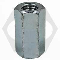 M6-1.00xAF=10x18 METRIC HEX COUPLING NUTS, CLASS 6, ZINC CR+3