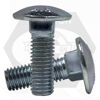 M10-1.50x80 MM,(PT) CARRIAGE BOLTS DIN 603 4.6 ZINC CR+3