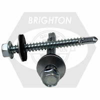 "#10-16x1 1/2"" INDENT HWH,#3 POINT PROFERRED SELF DRILLING SCREW W/BONDED WASHER, ZINC CR+3"