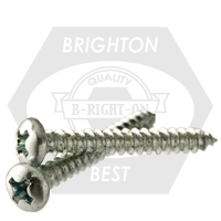"""#10-12x3/4"""" INDENT HWH PHIL/SLOT COMBO TAPPING SCREWS TYPE A ZINC CR+3"""