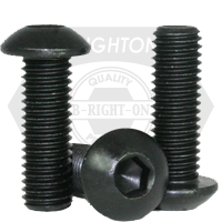 "#0-80x5/32"" BUTTON SOCKET CAPS FINE ALLOY THERMAL BLACK OXIDE"