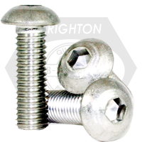 "#0-80x1/2"" NON-STANDARD BUTTON SOCKET CAPS FINE STAIN A2 18-8"