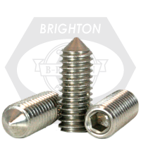 "#0-80x1/8"" SOCKET SET SCREWS CONE POINT FINE STAINLESS A2 18-8"