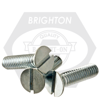 """1/4""""-20x4"""",(FT) UNC FLAT HEAD SLOT MACHINE SCREWS, FLAT SLOTTED, STAINLESS STEEL 304"""