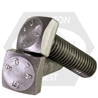"1""-8x10"",(PT) A307 GRADE A SQUARE HEAD BOLT PLAIN"