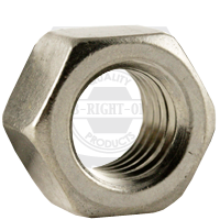 """1 1/8""""-7 UNC HEX NUTS COARSE STAIN A2 18-8"""