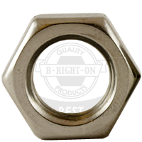 """1 1/8""""-7 HEX NUTS JAM STAIN A2 18-8"""