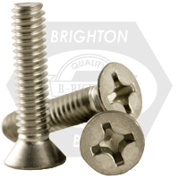 """1/4""""-20x2"""",(FT) UNC MACHINE SCREWS PHILLIPS FLAT HEAD COARSE STAINLESS A2 18-8"""