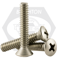 """1/4""""-20x2 1/2"""",(FT) MACHINE SCREWS PHILIPS OVAL HEAD COARSE STAIN A2 18-8"""