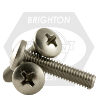 "3/8""-16x3/4"",(FT) UNC MACHINE SCREWS PHILIPS PAN HEAD COARSE STAIN A2 18-8"