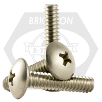 "#4-40x1/2"",(FT) MACHINE SCREWS PHILIPS TRUSS HEAD COARSE STAIN A2 18-8"