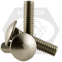 """#10-24x1/2"""",(FT) CARRIAGE BOLTS COARSE STAIN A2 18-8"""
