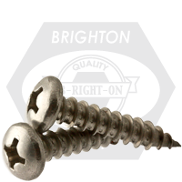 """#10-12x1/2"""",(FT) SELF-TAPPING SCREWS PHILIPS PAN HEAD TYPE A STAIN A2 18-8"""