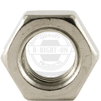 M8-1.25 DIN 934 HEX NUTS COARSE STAIN A2-70