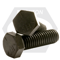 "1 1/2""-12x7"",(PT) HEX CAP SCREWS GRADE 5 FINE MED. CARBON PLAIN"