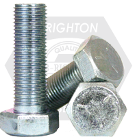 "1 1/2""-6x10"",(PT) HEX CAP SCREWS GRADE 5 COARSE MED. CARBON ZINC CR+3"