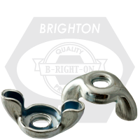 #8-32 TYPE D,STYLE 1 WING NUTS,STAMPED, COARSE LOW CARBON ZINC CR+3
