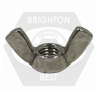 "3/8""-16 TYPE A WING NUTS STAINLESS 316"