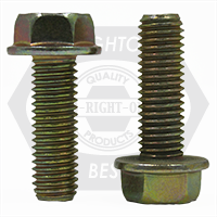 """3/8""""-16x2 3/4"""",(FT) INCH STAINLESS 18-8 HEX HEAD SERRATED FLANGE SCREW WITH WAX"""