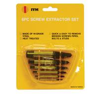 6 PC. SCREW EXTRACTOR SET SCREW EXTRACTOR SET